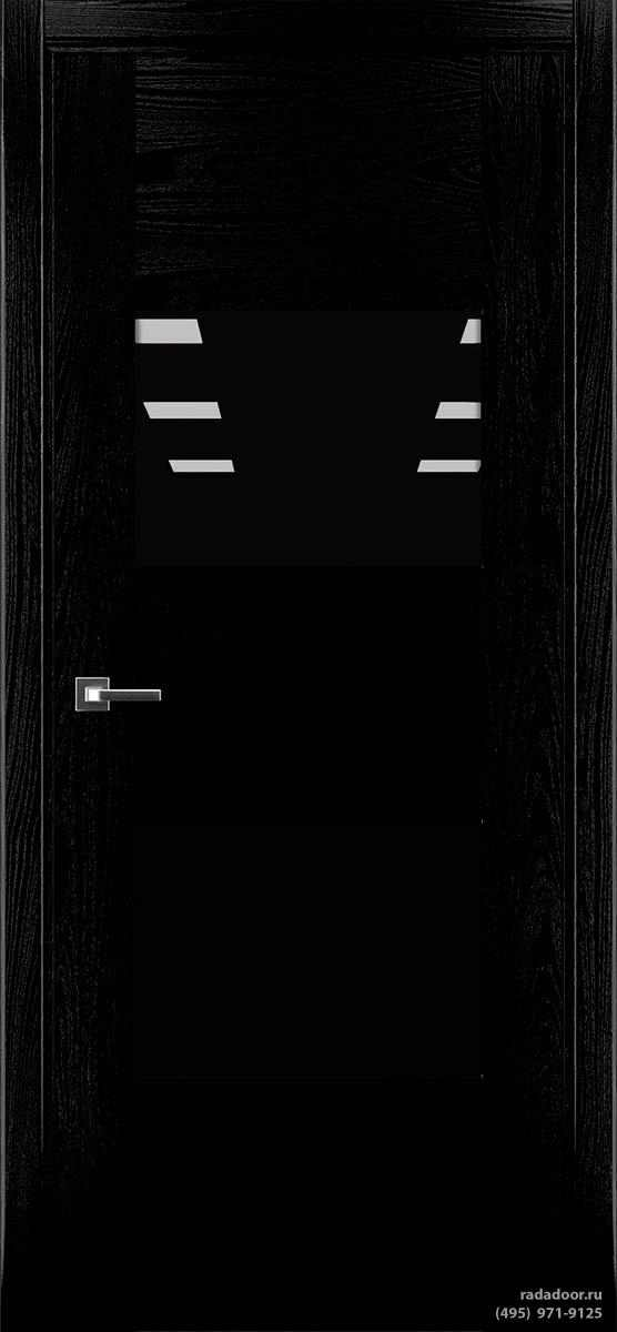 Дверь Рада Bruno ДО-1, стекло черный лакобель (черная эмаль)
