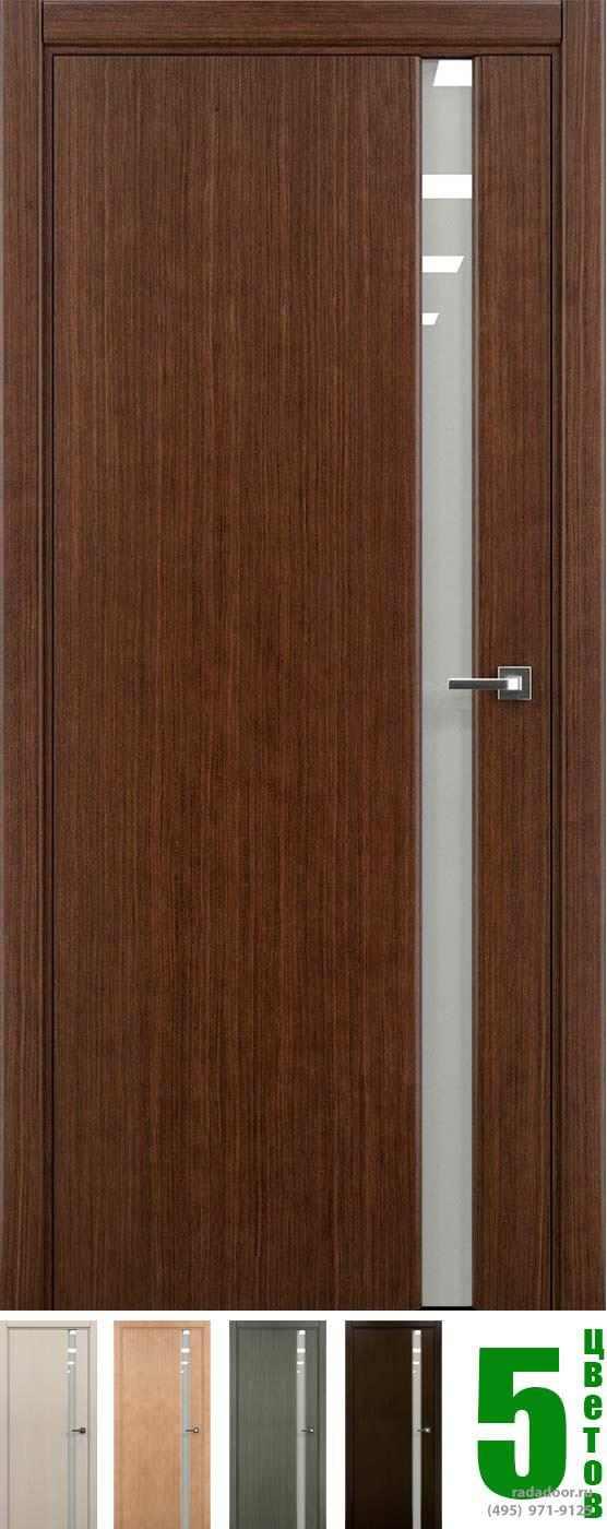 Дверь Рада Гранд ДО-1 со стеклом светлый триплекс (5 цветов)