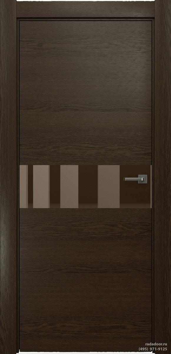 Двери Рада X-Line Д01 в цвете Американо стекло бронзовое зеркало