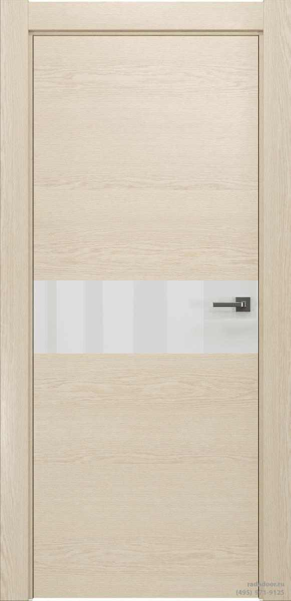 Двери Рада X-Line Д01 в цвете айс крим стекло белый
