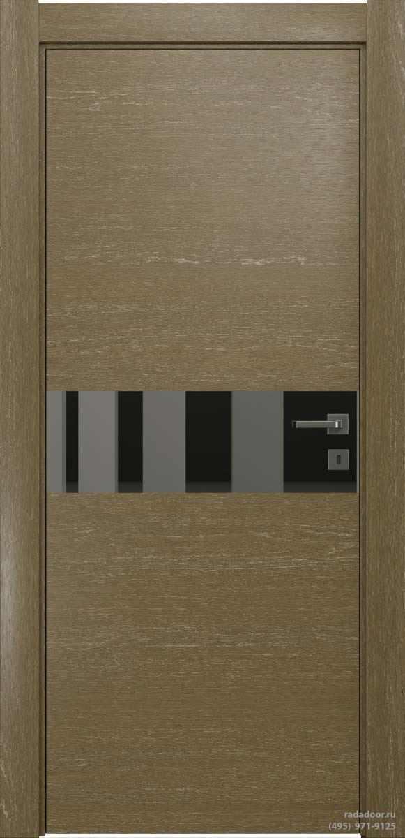 Двери Рада X-Line Д01 в цвете Мокко айс стекло графитовое зеркало