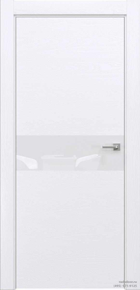 Двери Рада X-Line Д01 в цвете Blanc стекло белый лакобель