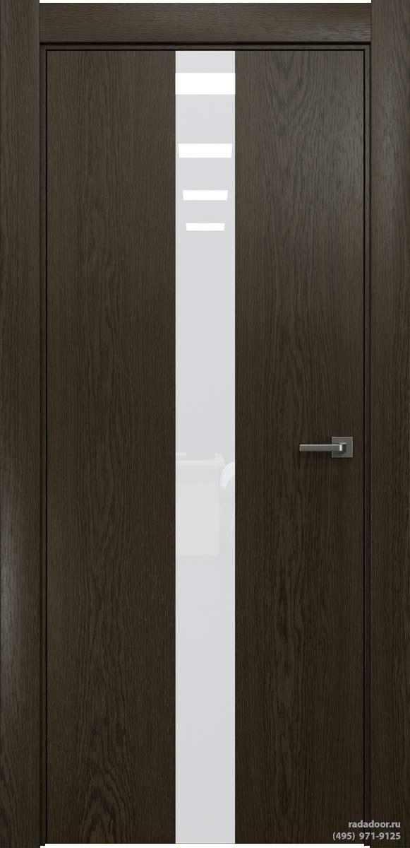 Двери Рада X-Line Д03 в цвете Экспрессо стекло белый лакобель
