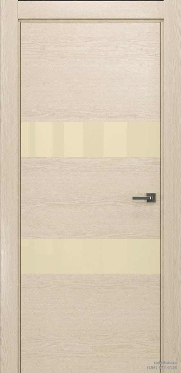 Двери Рада X-Line Д04 в цвете айс крим стекло светло-бежевый лакобель