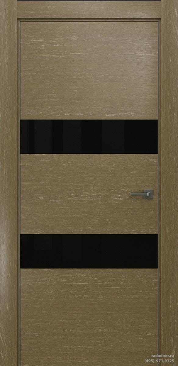 Двери Рада X-Line Д04 в цвете Мокко айс стекло черный лакобель