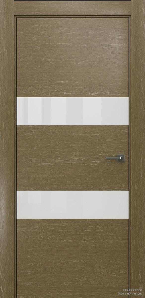 Двери Рада X-Line Д04 в цвете Мокко айс стекло белый лакобель