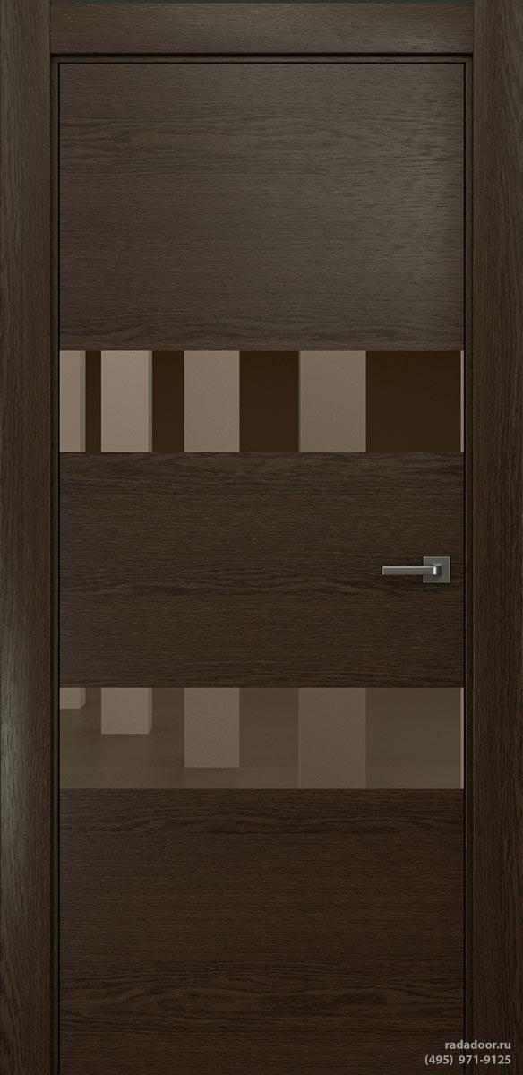 Двери Рада X-Line Д04 в цвете Американо стекло бронзовое зеркало