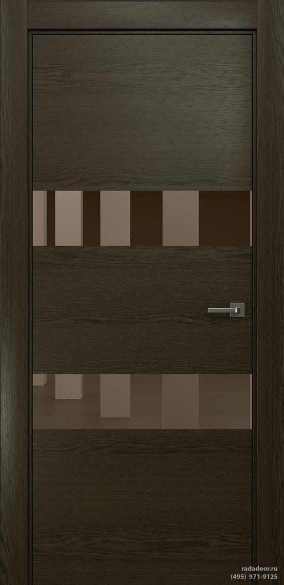 Двери Рада X-Line Д04 в цвете Экспрессо стекло бронзовое зеркало