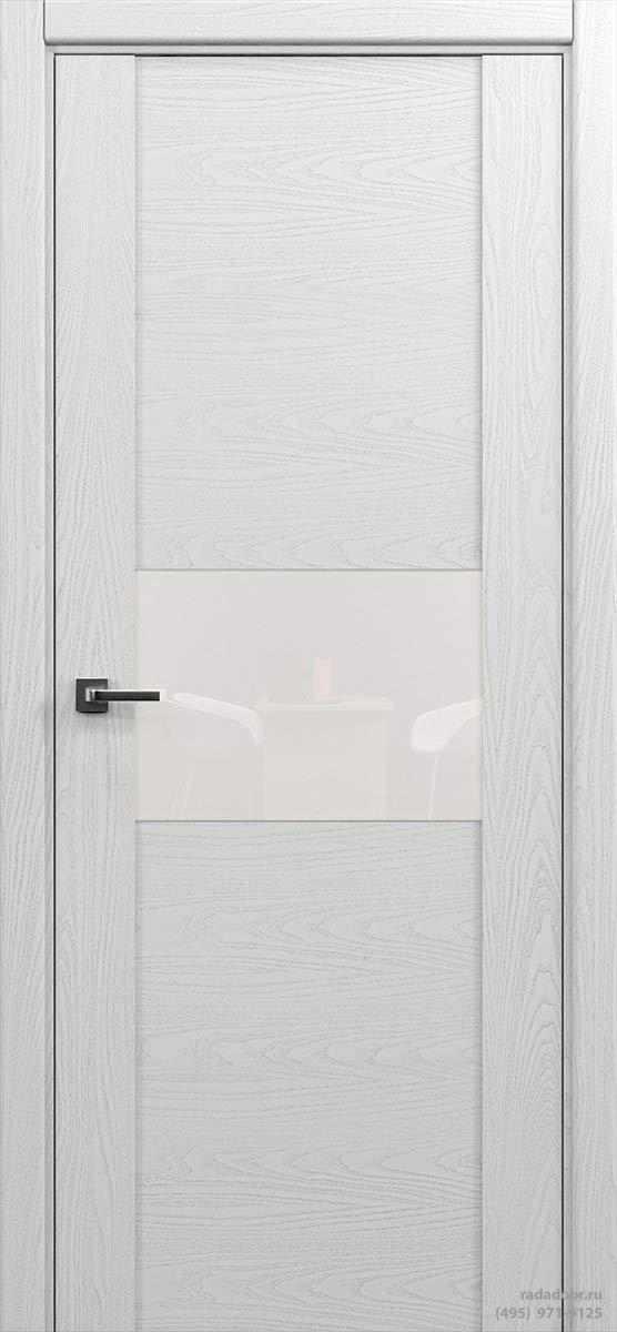 Дверь Рада Bruno ДО-2, стекло белый лакобель (белая эмаль)