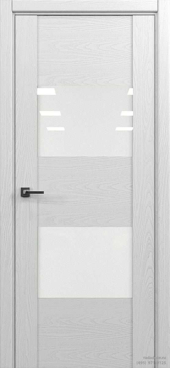 Дверь Рада Bruno ДО-1, стекло белый лакобель (белая эмаль)