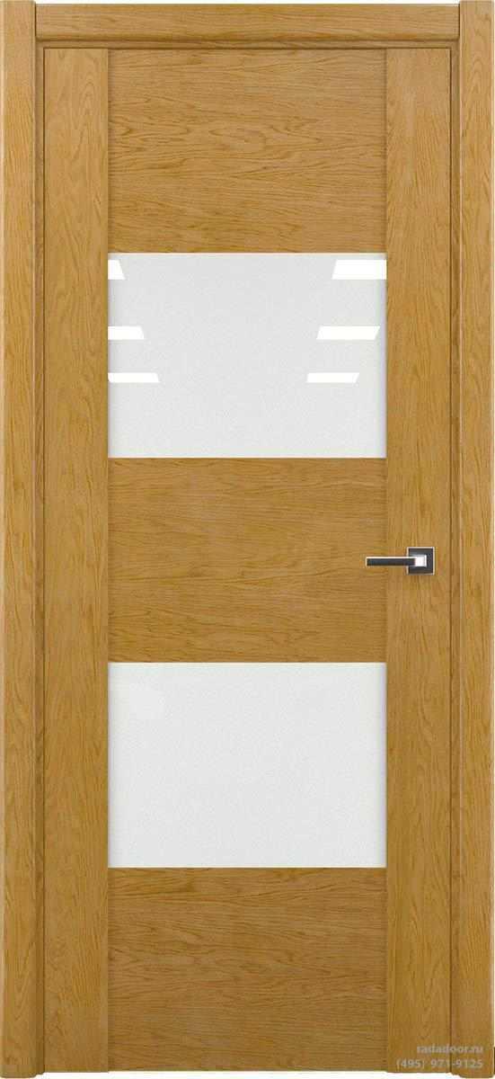Дверь Рада Bruno ДО-1, стекло белый лакобель (дуб натуральный)