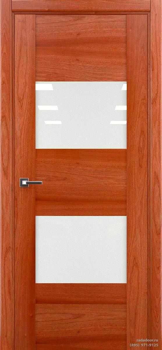 Дверь Рада Bruno ДО-1, стекло белый лакобель (сапеле)