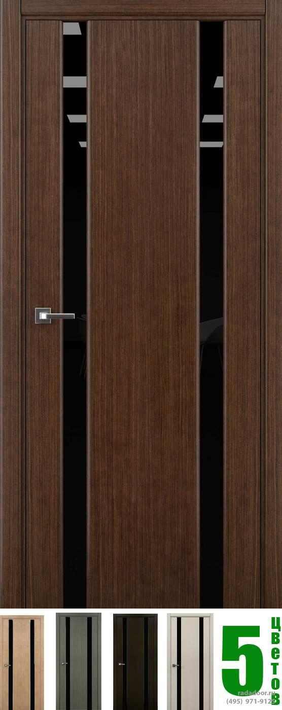 Дверь Рада Гранд ДО со стеклом черный триплекс (5 цветов)