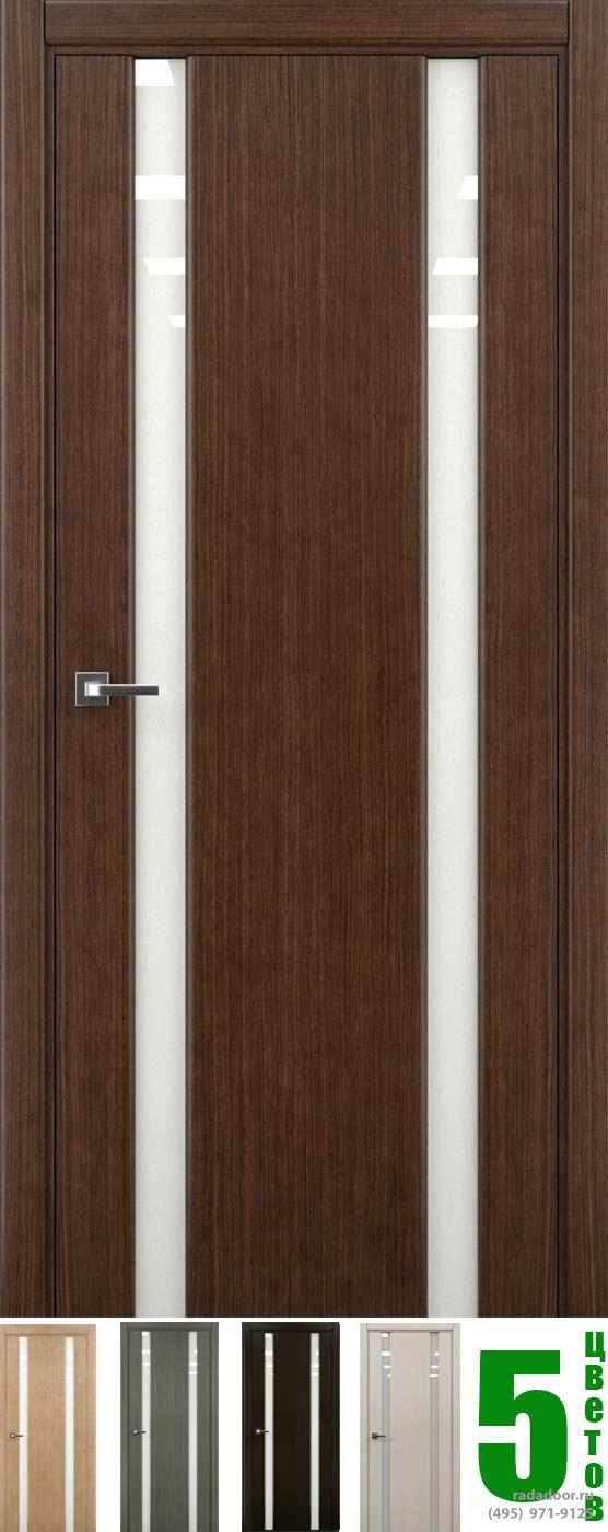 Дверь Рада Гранд ДО со стеклом светлый триплекс (5 цветов)