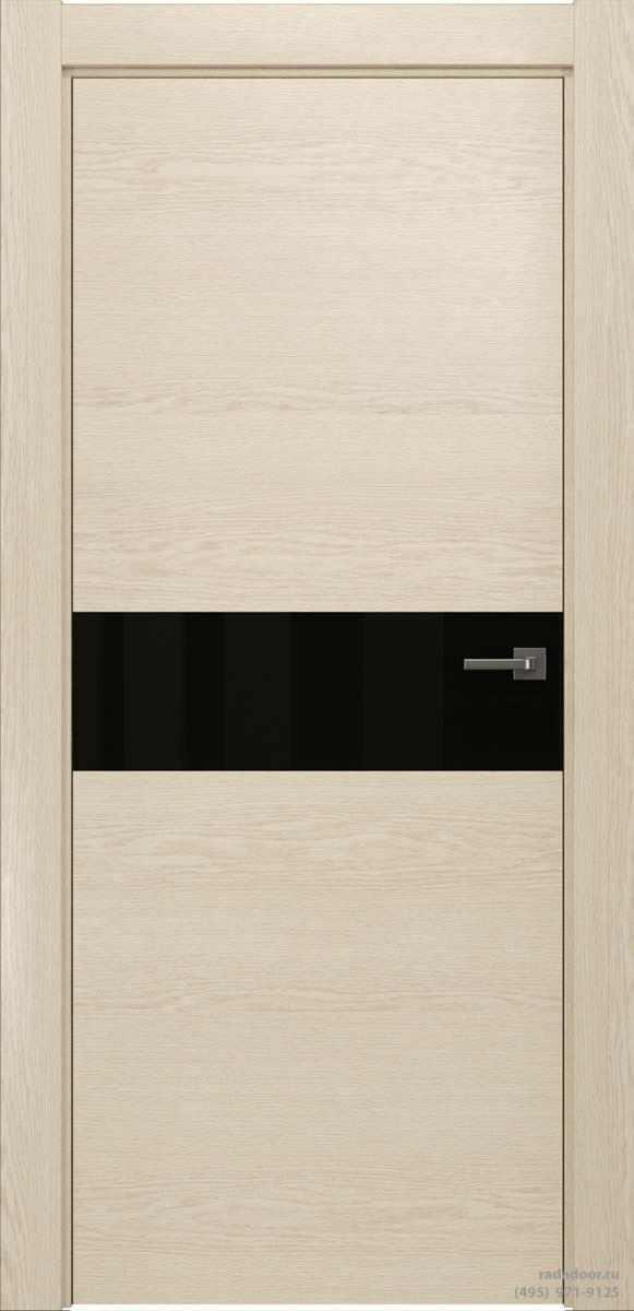 Двери Рада X-Line Д01 в цвете айс крим стекло черный лакобель