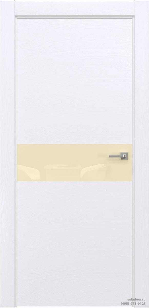 Двери Рада X-Line Д01 в цвете Blanc стекло светло-бежевый лакобель