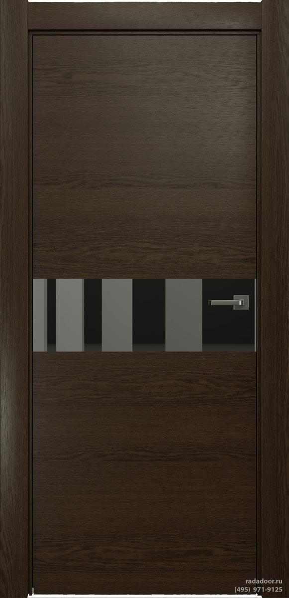 Двери Рада X-Line Д01 в цвете Американо стекло графитовое зеркало