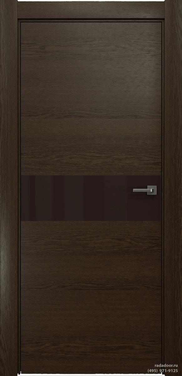 Двери Рада X-Line Д01 в цвете Американо стекло темно-коричневый лакобель