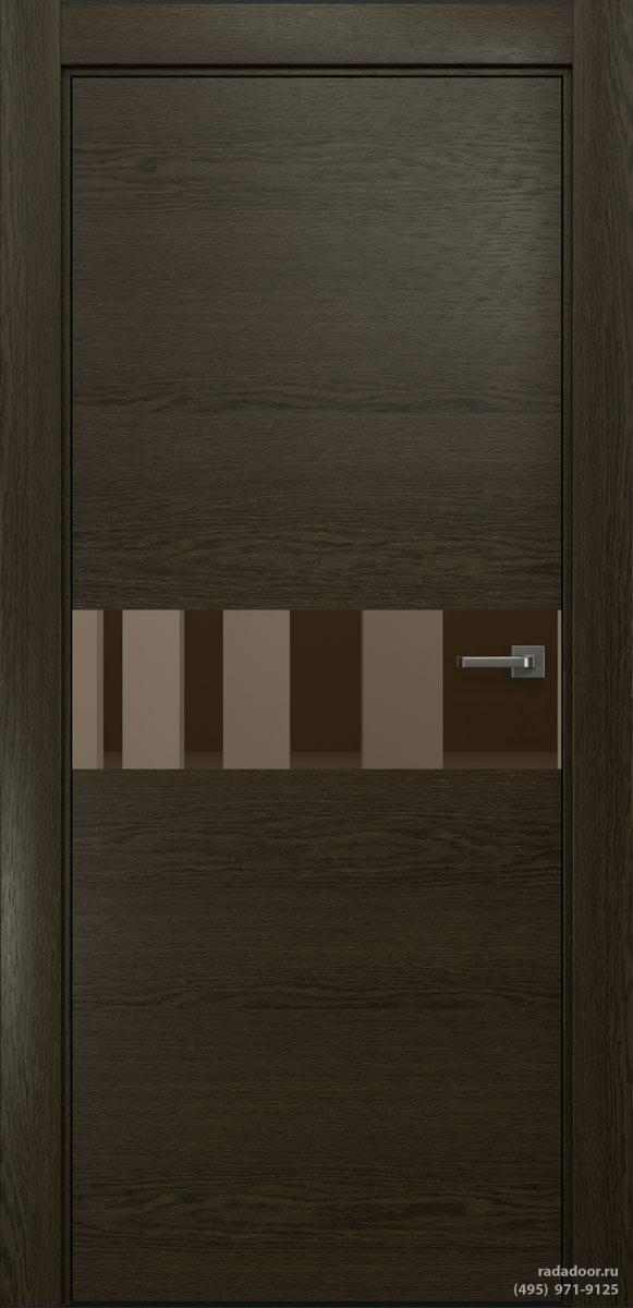 Двери Рада X-Line Д01 в цвете Экспрессо стекло бронзовое зеркало