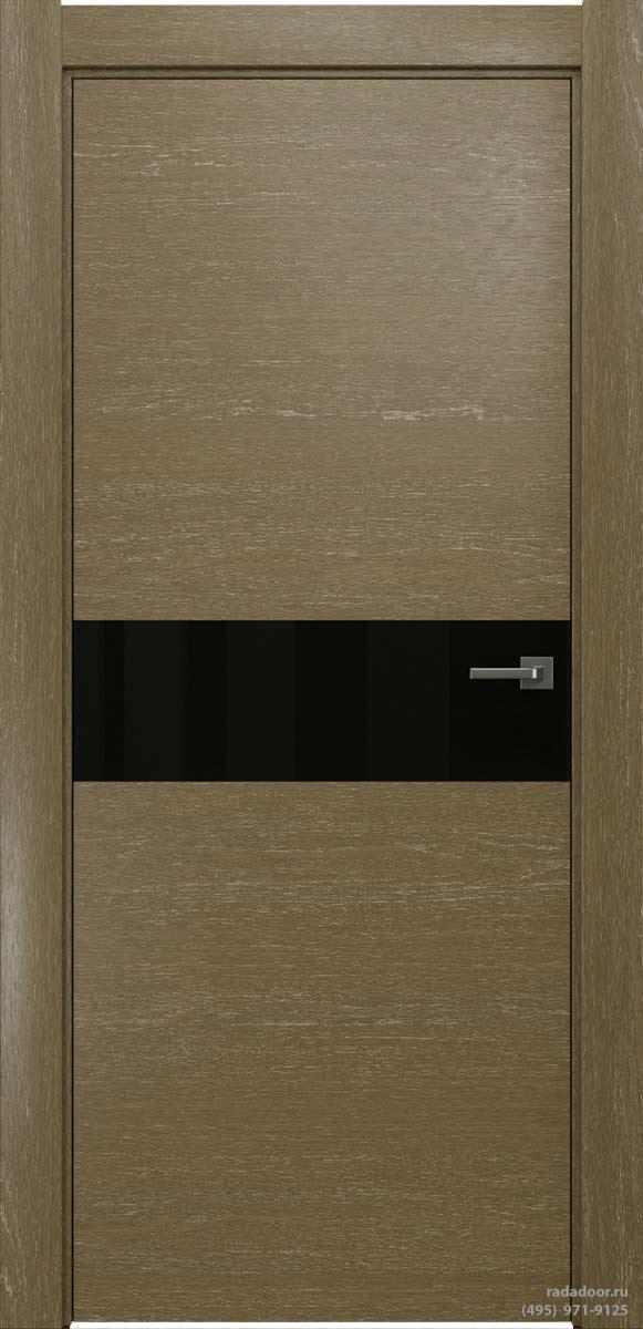 Двери Рада X-Line Д01 в цвете Мокко айс стекло черный лакобель