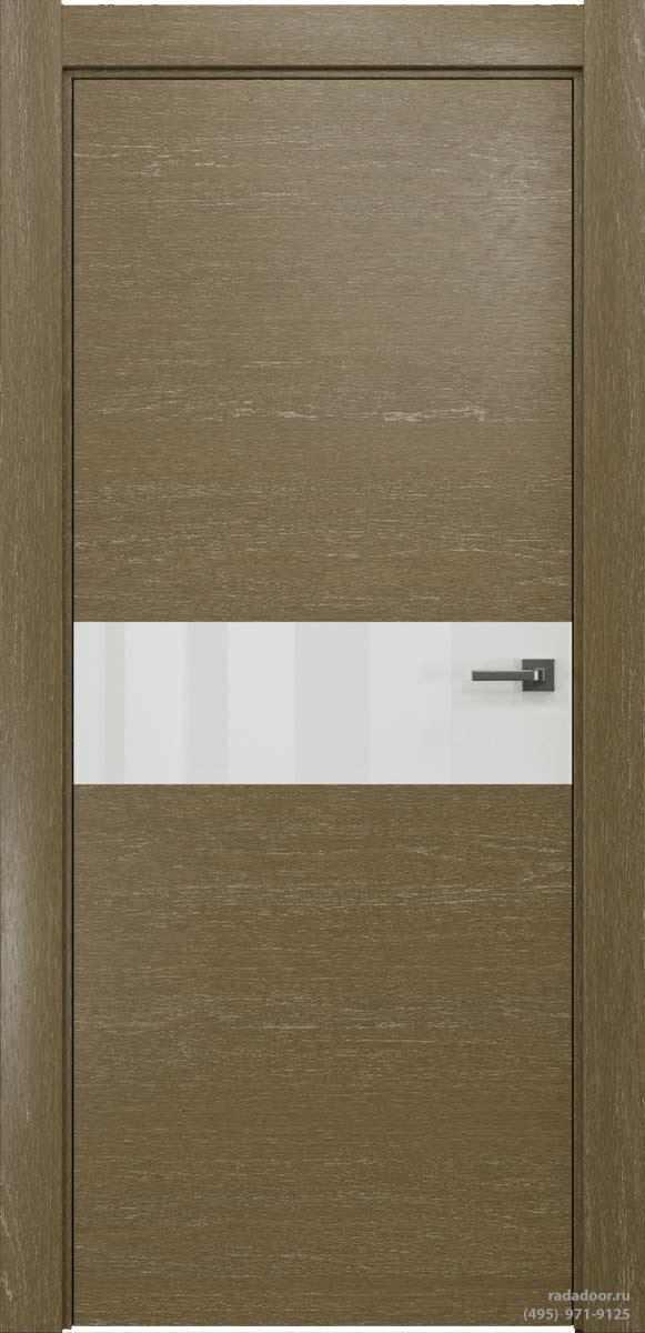 Двери Рада X-Line Д01 в цвете Мокко айс стекло белый лакобель