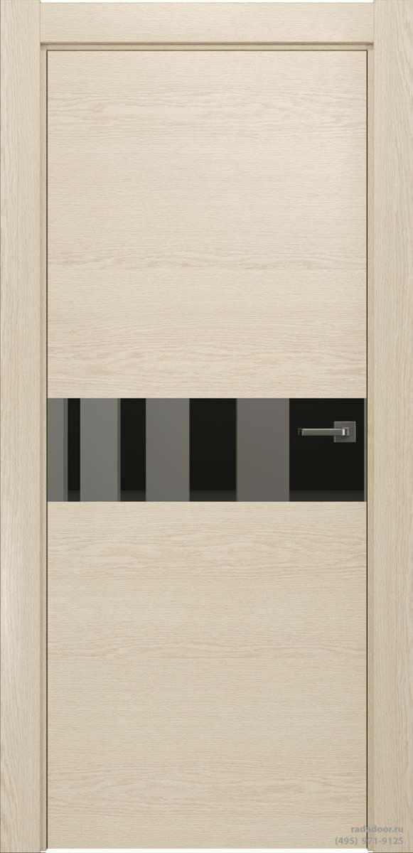 Двери Рада X-Line Д01 в цвете айс крим стекло графитовое зеркало