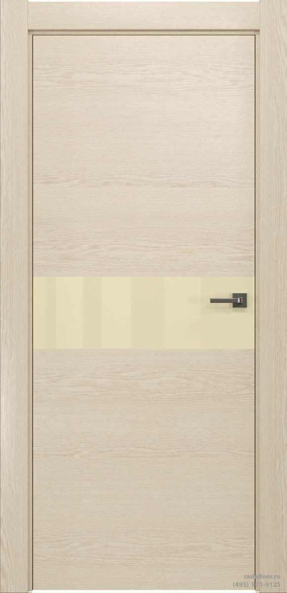 Двери Рада X-Line Д01 в цвете айс крим стекло светло-бежевый лакобель