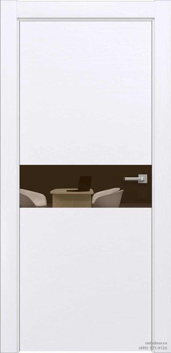 Двери Рада X-Line Д01 в цвете Blanc стекло бронзовое зеркало