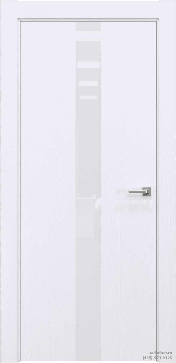 Двери Рада X-Line Д03 в цвете Blanc стекло белый лакобель