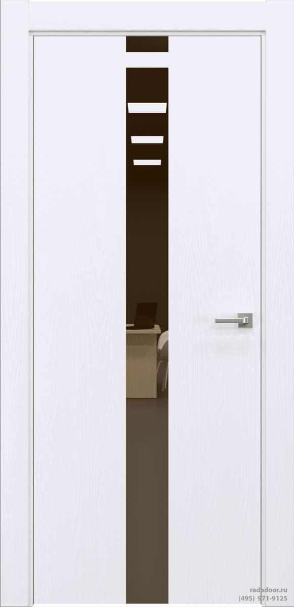Двери Рада X-Line Д03 в цвете Blanc стекло бронзовое зеркало