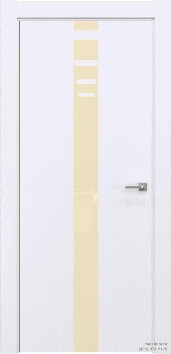 Двери Рада X-Line Д03 в цвете Blanc стекло светло-бежевый лакобель