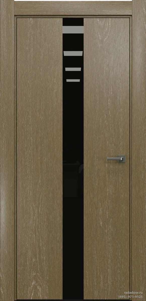 Двери Рада X-Line Д03 в цвете Мокко айс стекло черный лакобель