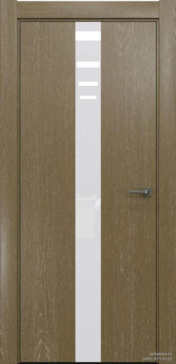 Двери Рада X-Line Д03 в цвете Мокко айс стекло белый лакобель