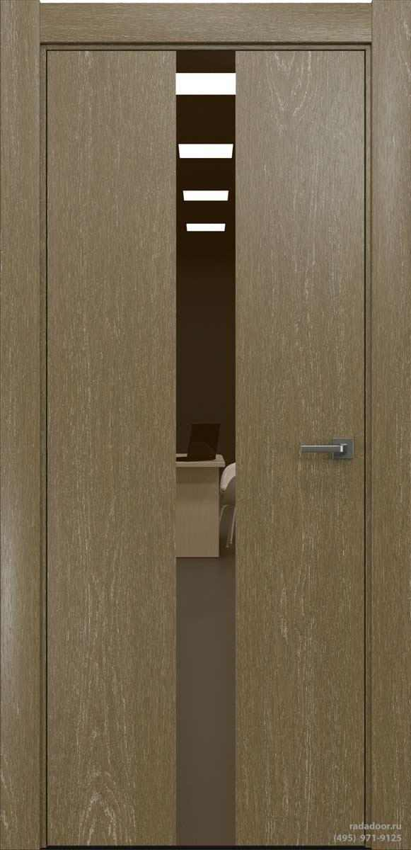 Двери Рада X-Line Д03 в цвете Мокко айс стекло бронзовое зеркало