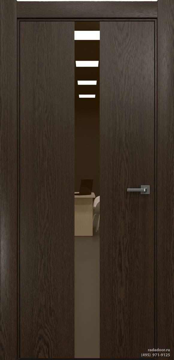 Двери Рада X-Line Д03 в цвете Американо стекло бронзовое зеркало