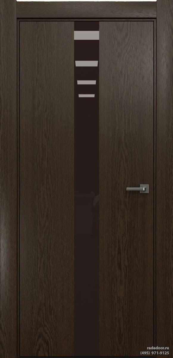 Двери Рада X-Line Д03 в цвете Американо стекло темно-коричневый лакобель