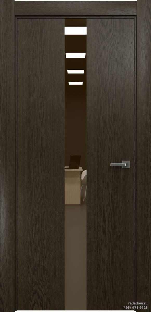 Двери Рада X-Line Д03 в цвете Экспрессо стекло бронзовое зеркало