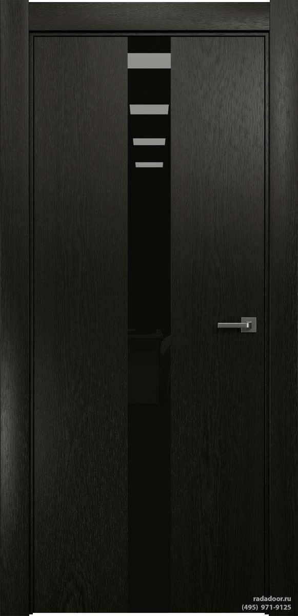 Двери Рада X-Line Д03 в цвете Дабл блэк стекло черный лакобель