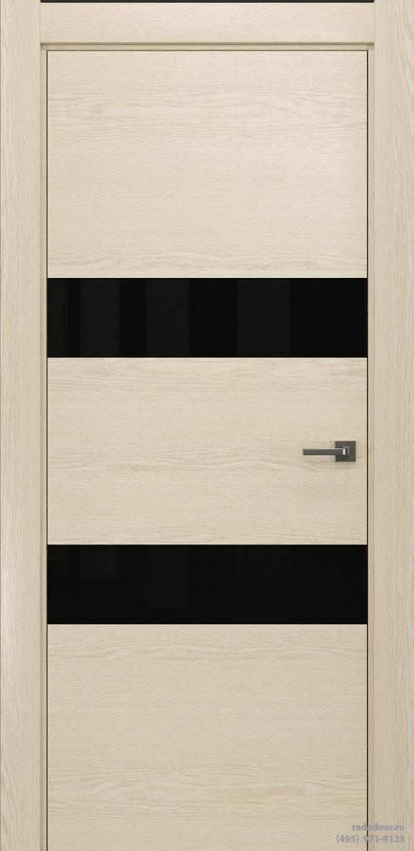Двери Рада X-Line Д04 в цвете айс крим стекло черный лакобель