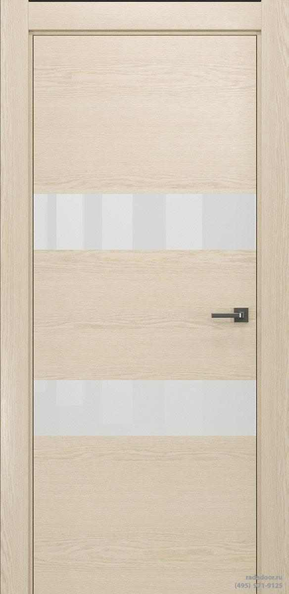 Двери Рада X-Line Д04 в цвете айс крим стекло белый лакобель