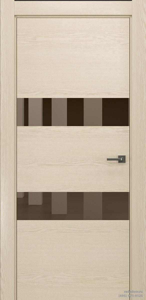 Двери Рада X-Line Д04 в цвете айс крим стекло бронзовое зеркало
