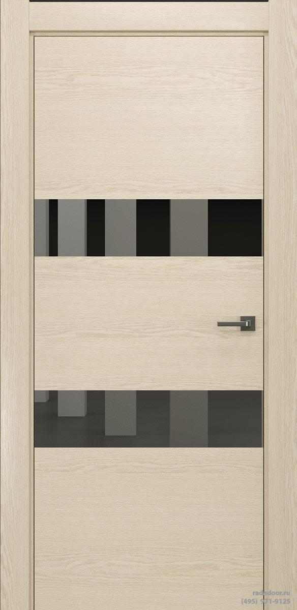 Двери Рада X-Line Д04 в цвете айс крим стекло графитовое зеркало
