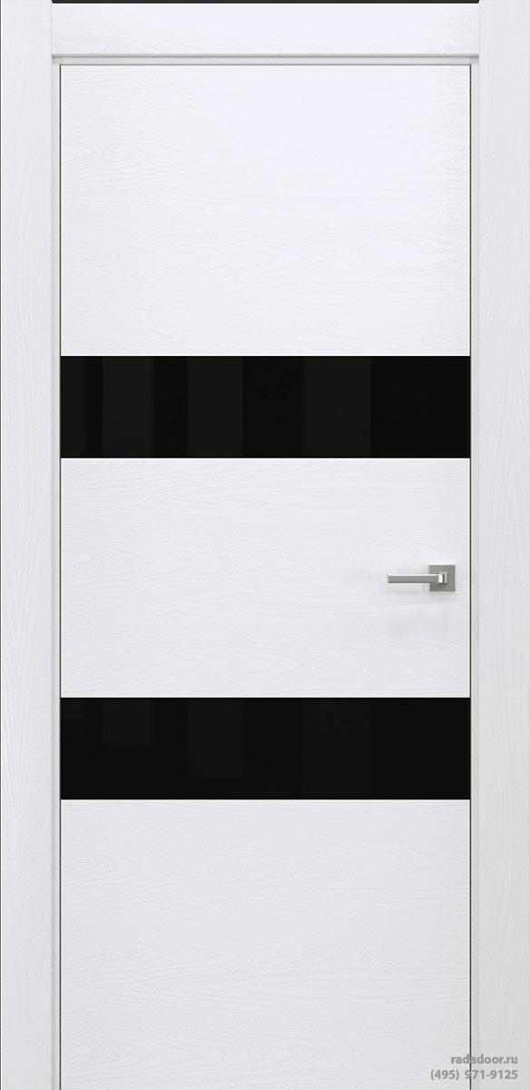 Двери Рада X-Line Д04 в цвете Blanc стекло черный лакобель