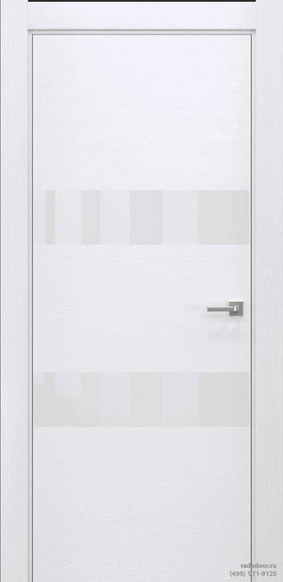 Двери Рада X-Line Д04 в цвете Blanc стекло белый лакобель