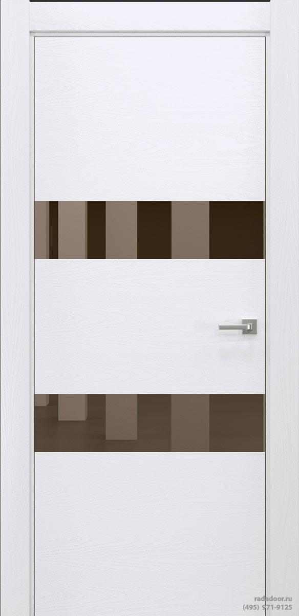 Двери Рада X-Line Д04 в цвете Blanc стекло бронзовое зеркало