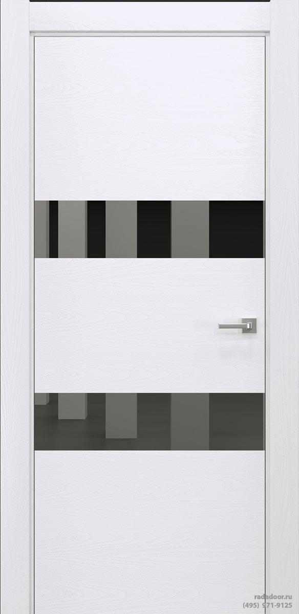 Двери Рада X-Line Д04 в цвете Blanc стекло графитовое зеркало