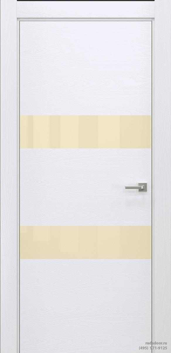 Двери Рада X-Line Д04 в цвете Blanc стекло светло-бежевый лакобель