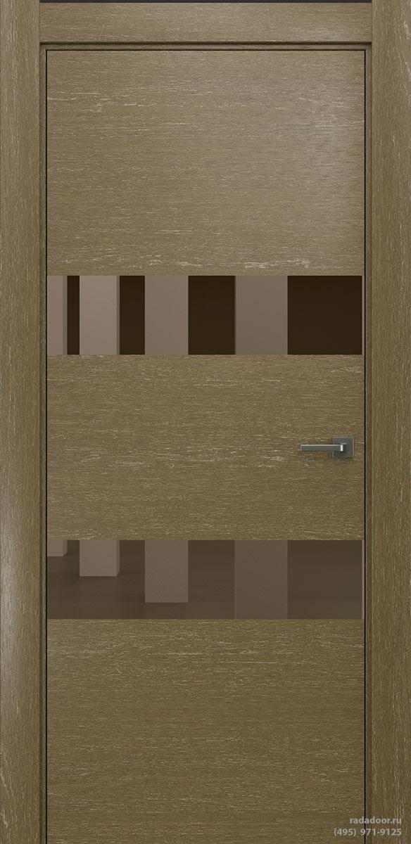 Двери Рада X-Line Д04 в цвете Мокко айс стекло бронзовое зеркало