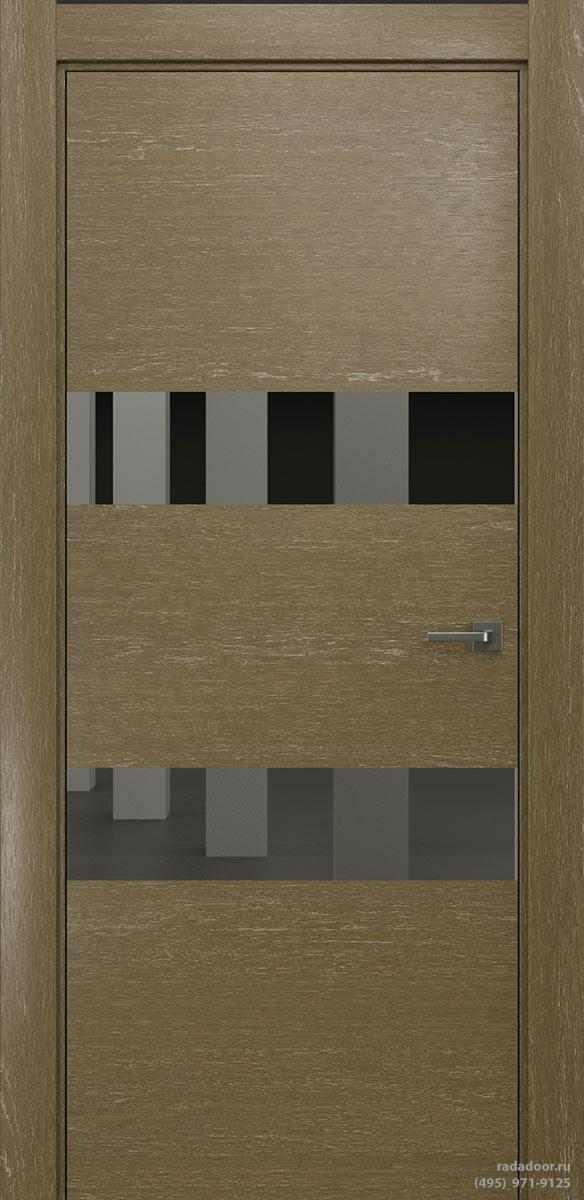 Двери Рада X-Line Д04 в цвете Мокко айс стекло графитовое зеркало